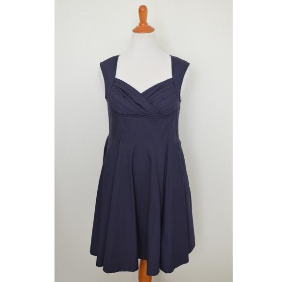 eShakti Fit and Flare Pinup Style Dress XL 16